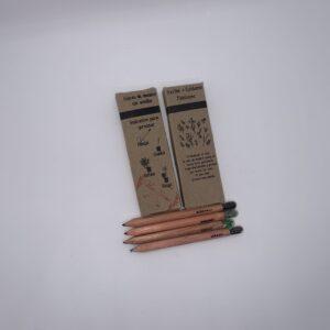 Lápices de colores con semilla