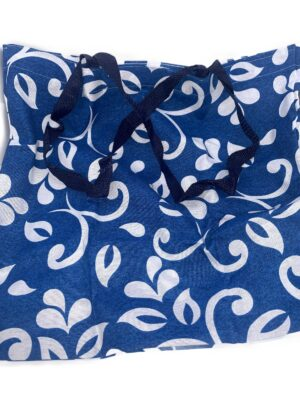 Bolsa Plegable de Flores Azul