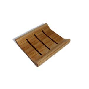 Jabonera de madera curva