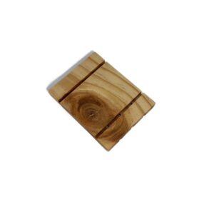 Jabonera de madera plana