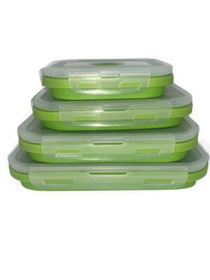 Set de recipientes de silicón